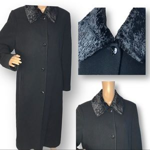 Nordstrom wool/cashmere fur collar coat 14